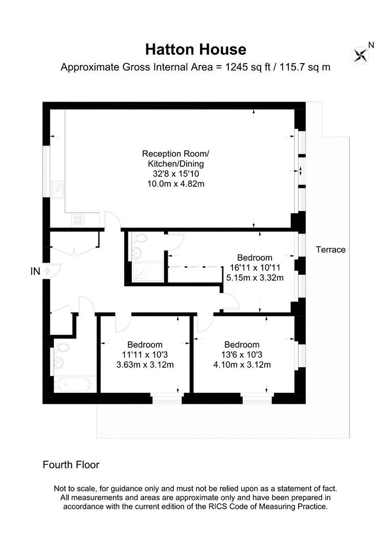 Floorplan for Hartfield Road, London